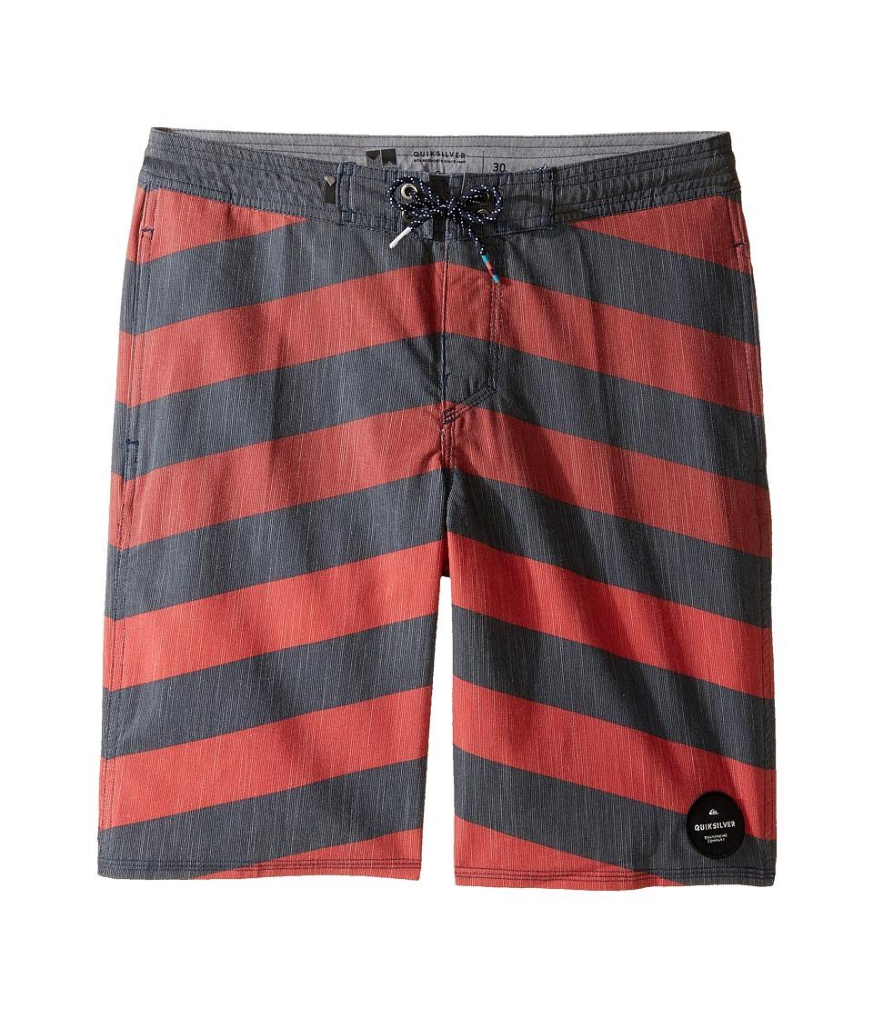 Quiksilver Kids Crypt Brigg Beach Shorts Youth 17 (Big Kids) (Navy Blazer) Boy