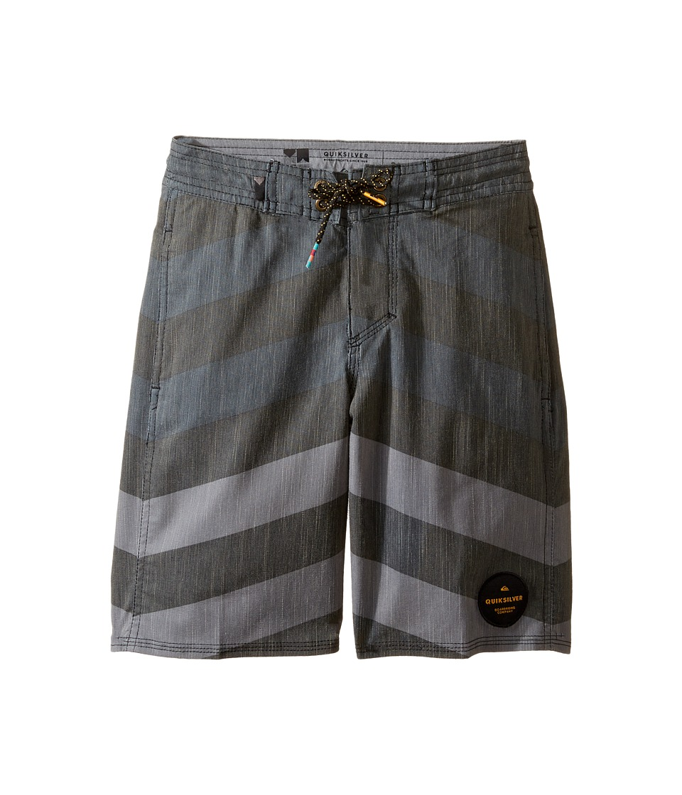 Quiksilver Kids - Crypt Brigg Beach Shorts Youth 17 (Big Kids) (Black) Boy's Swimwear