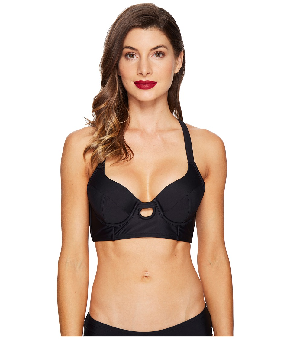 Unique Vintage - Mrs. Brooks Swim Top (Black) Women's Swimwear