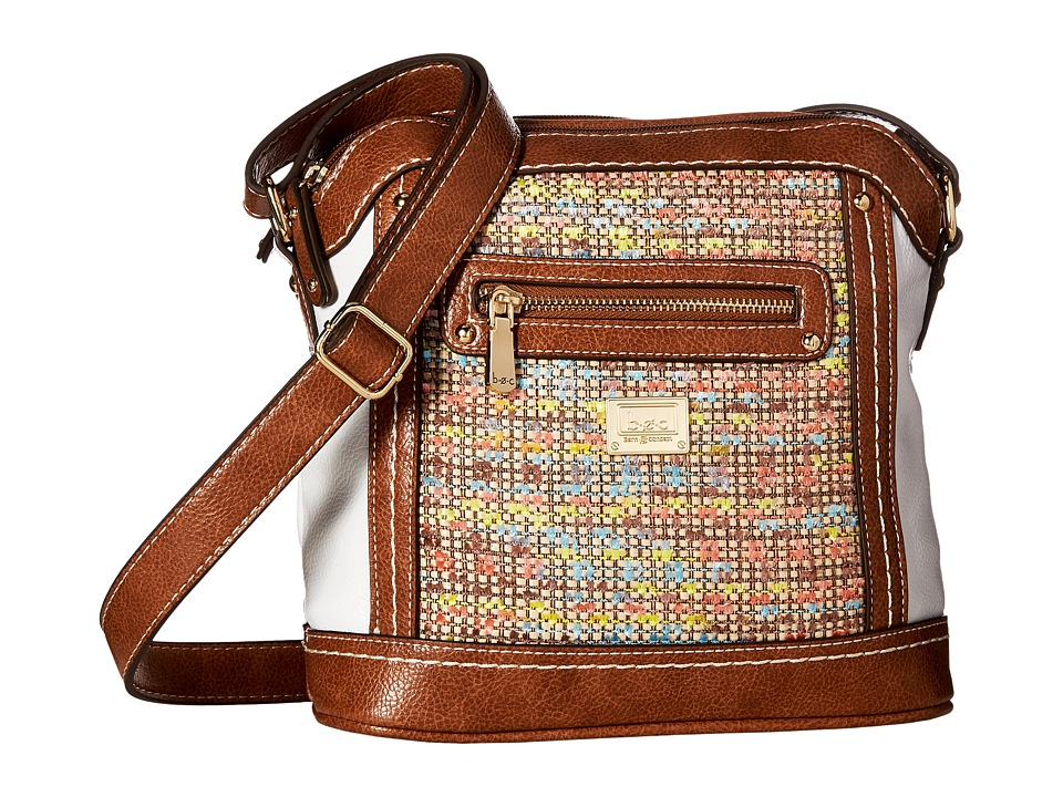b.o.c. - Peralta Crossbody (Chenille/White/Saddle) Cross Body Handbags