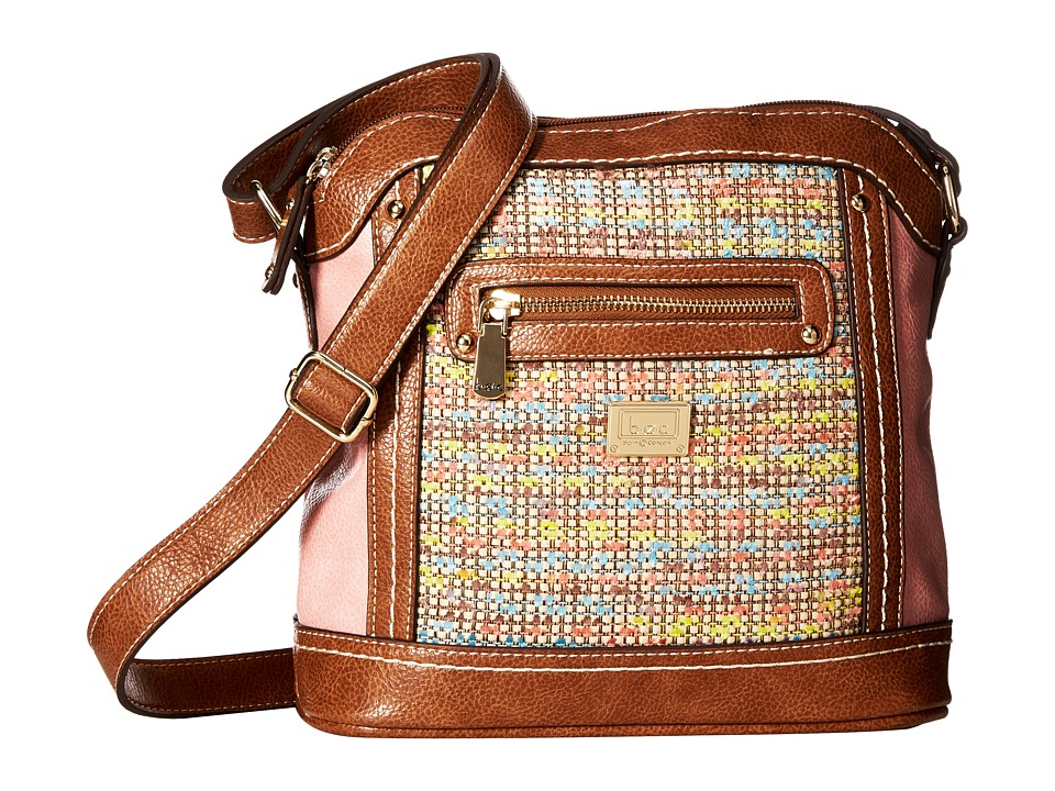 b.o.c. - Peralta Crossbody (Chenille/Shell Pink/Saddle) Cross Body Handbags