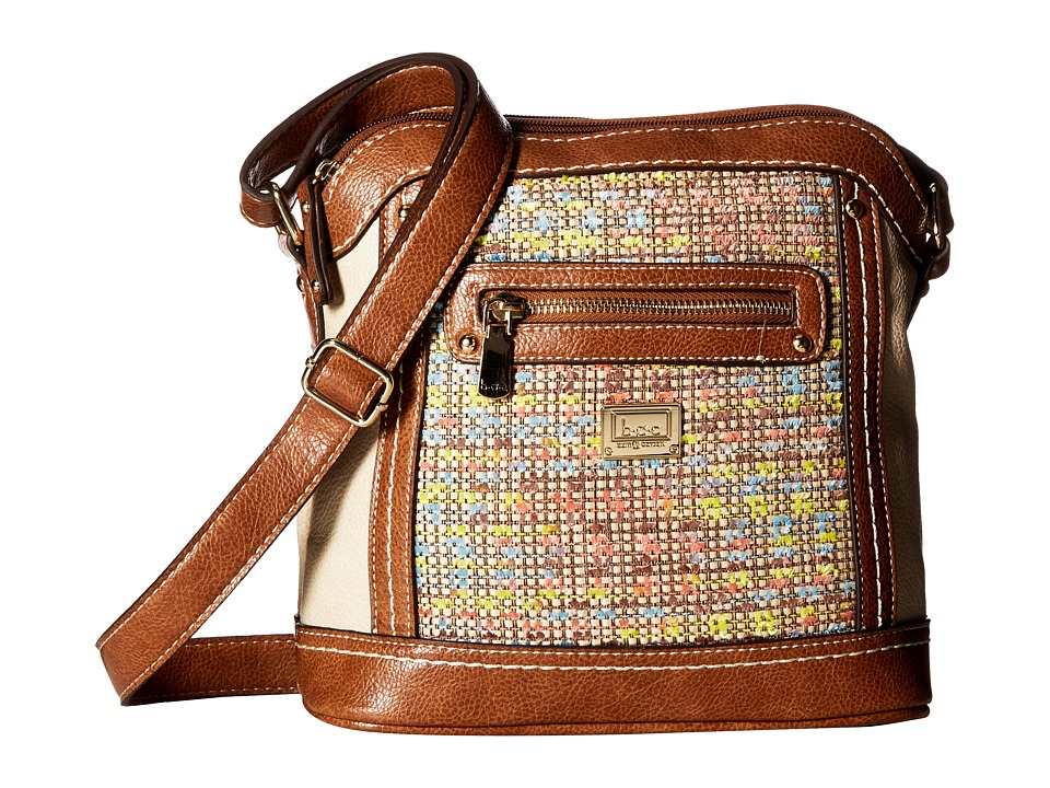 b.o.c. - Peralta Crossbody (Chenille/Stone/Saddle) Cross Body Handbags