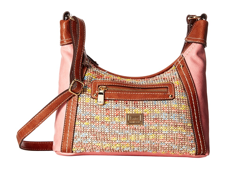 b.o.c. - Peralta Crobo (Chenille/Shell Pink/Saddle) Cross Body Handbags