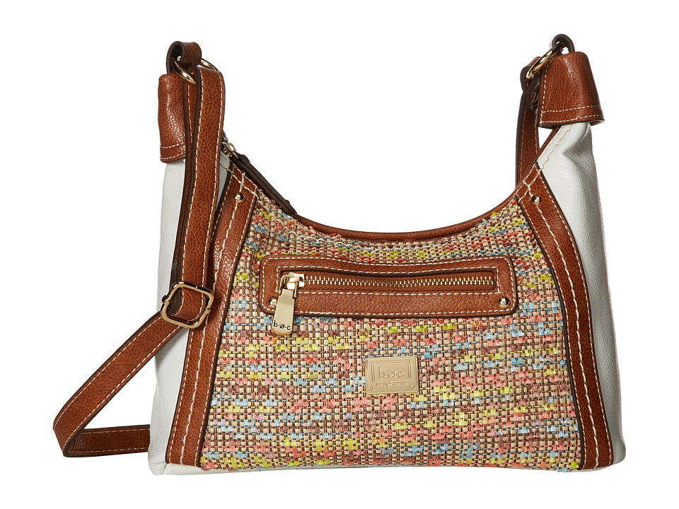b.o.c. - Peralta Crobo (Chenille/White/Saddle) Cross Body Handbags