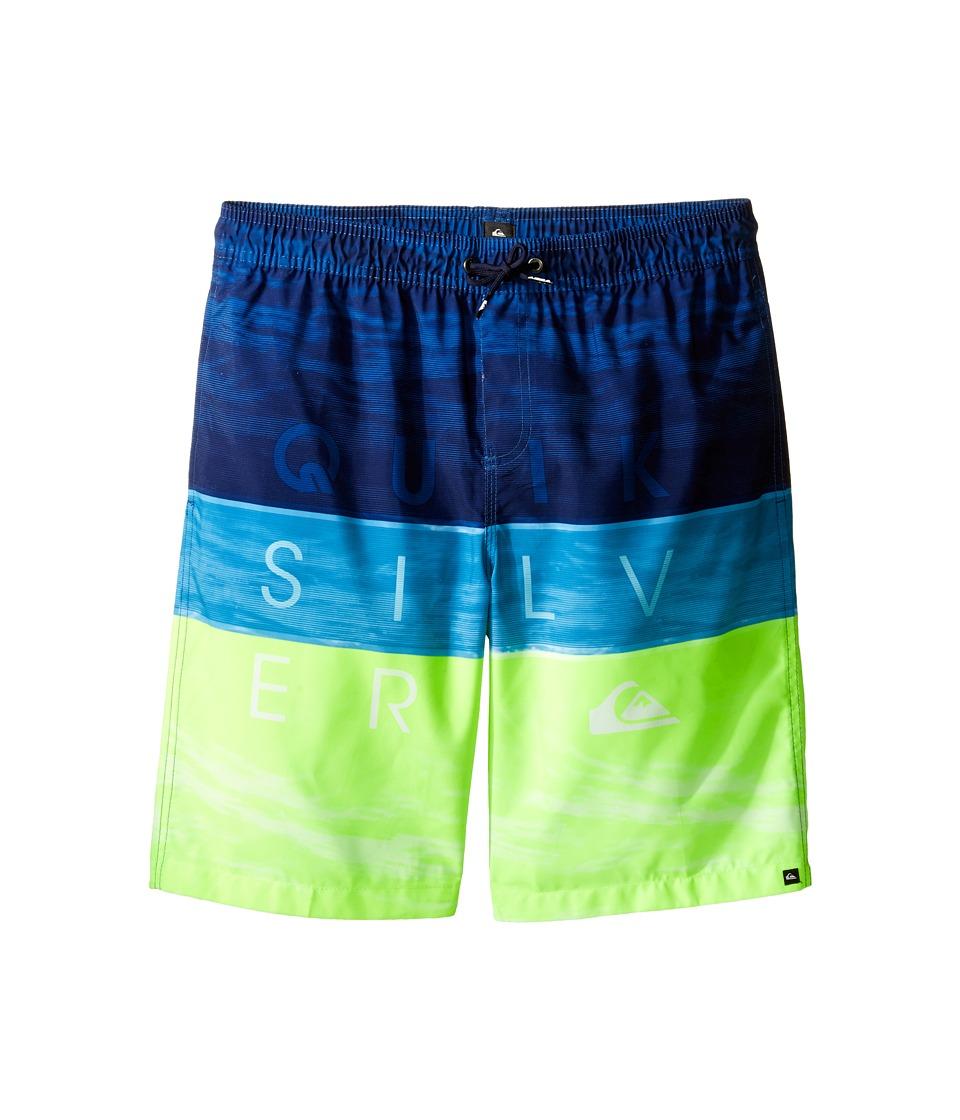 Quiksilver Kids - Word Waves LV Youth 17 (Big Kids) (Viridian Green) Boy's Swimwear