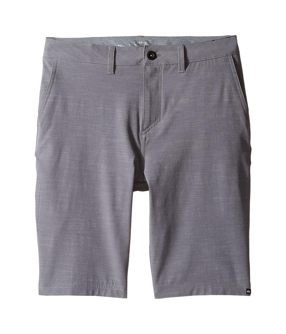 Quiksilver Kids - Slubbed Amphibian 19 (Big Kids) (Quiet Shade) Boy's Shorts
