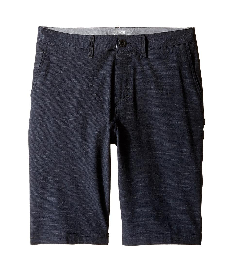 Quiksilver Kids - Slubbed Amphibian 19 (Big Kids) (Black) Boy's Shorts