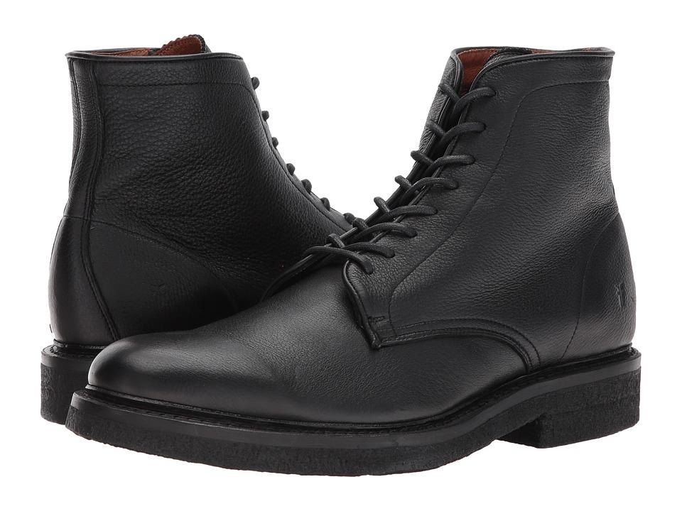 Frye Country Crepe Lace-Up (Black Deer Skin Leather) Men