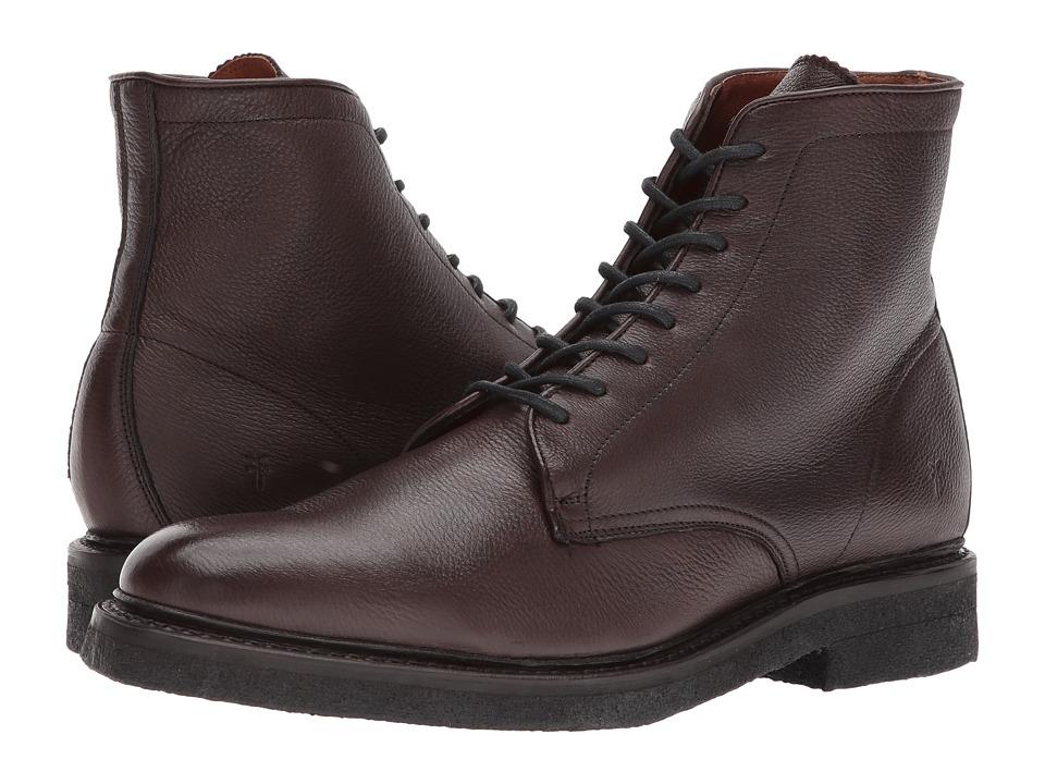 Frye Country Crepe Lace-Up (Dark Brown Deer Skin Leather) Men