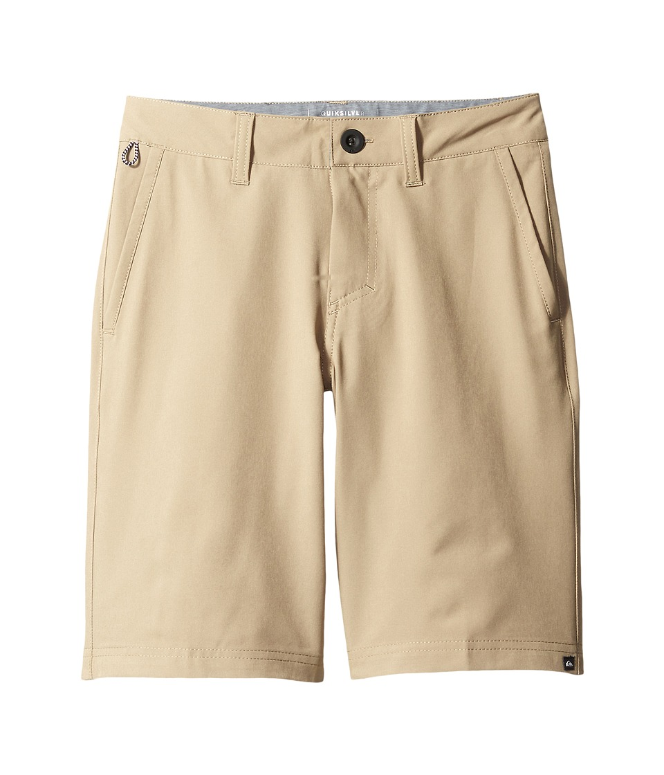 Quiksilver Kids - Solid Amphibian 19 (Big Kids) (Elmwood) Boy's Shorts