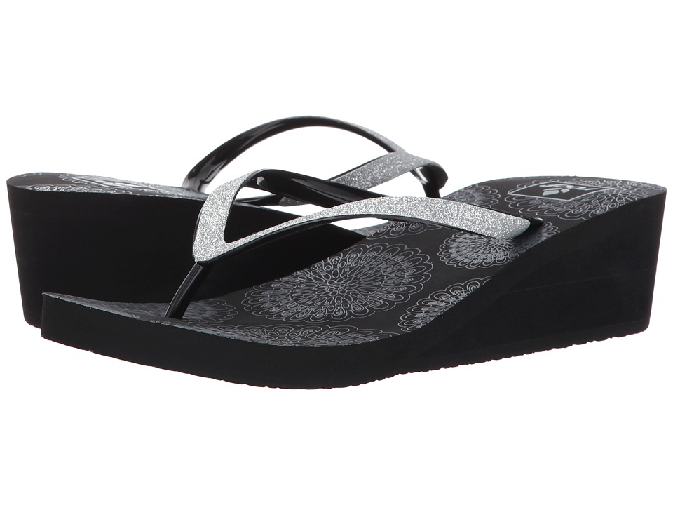 Reef - Krystal Stars Prints (Black) Women's Sandals