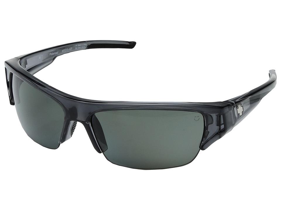 Spy Optic - Stokes (Clear Smoke/Happy Gray/Green Polarized) Sport Sunglasses