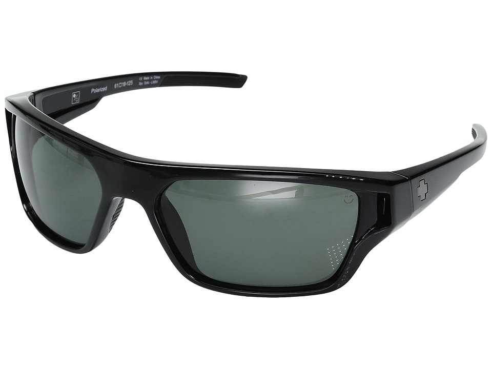 Spy Optic - Boon (Black/Happy Gray/Green Polarized) Sport Sunglasses