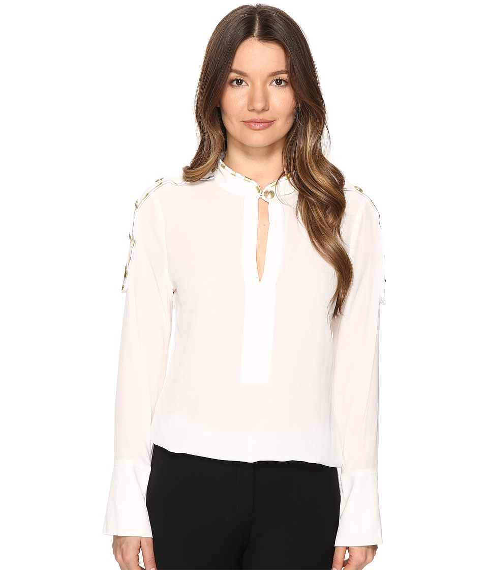 Pierre Balmain - Classic Tailored Blouse (Off-White) Women's Blouse
