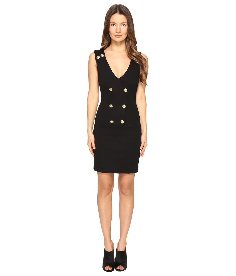 Pierre Balmain - Embellished Bodycon Dress (Black) Women's Dress