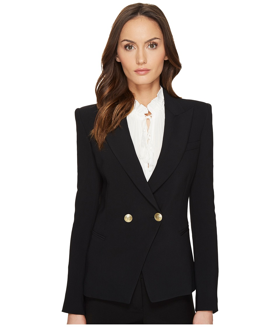 Pierre Balmain - Embellished Button Blazer (Black) Women's Jacket