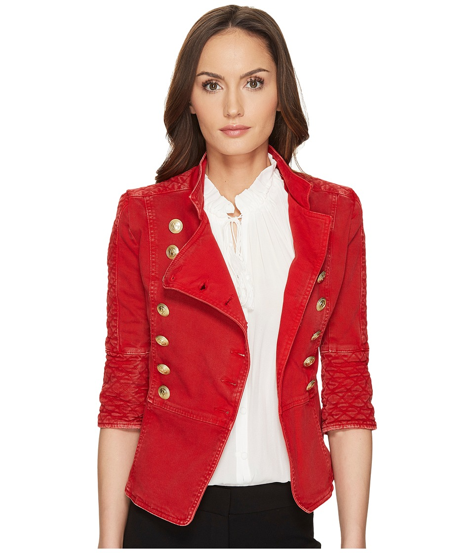 Pierre Balmain - Embellished Button Jacket (Red Vintage) Women's Jacket