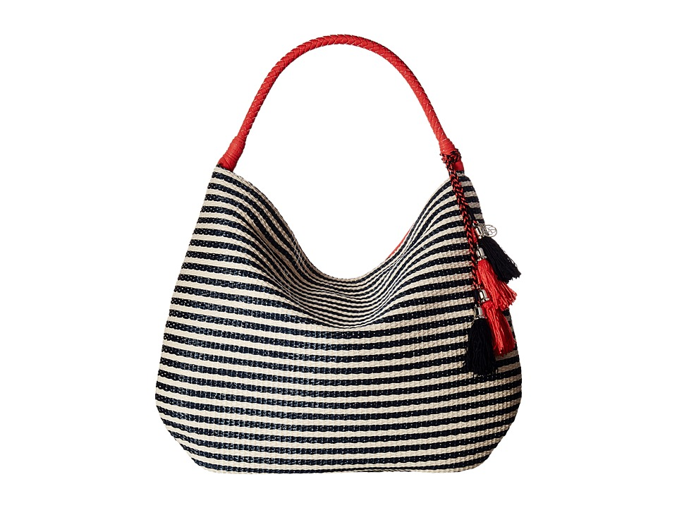 Jessica Simpson - Martine Hobo (Navy Straw/Spiced Coral) Hobo Handbags