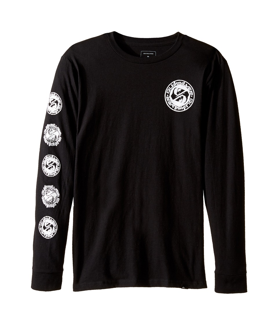 Quiksilver Kids - Balanced 69 Long Sleeve Youth (Big Kids) (Black) Boy's T Shirt