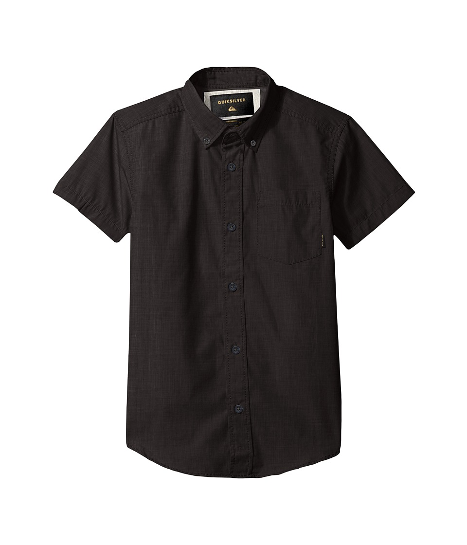 Quiksilver Kids - Everyday Wilsden Short Sleeve Youth (Big Kids) (Tarmac) Boy's Short Sleeve Button Up