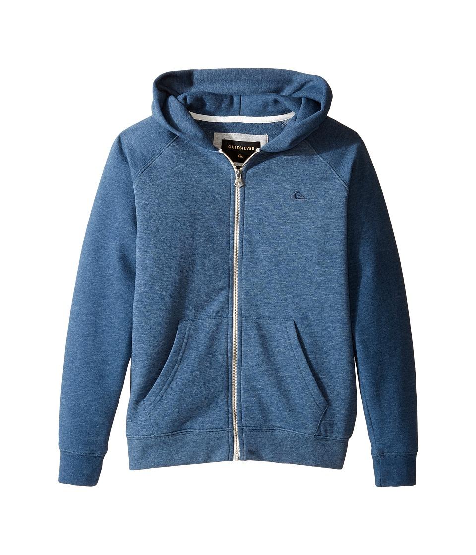 Quiksilver Kids - Everyday Zip Youth (Big Kids) (Dark Denim Heather) Boy's Sweatshirt