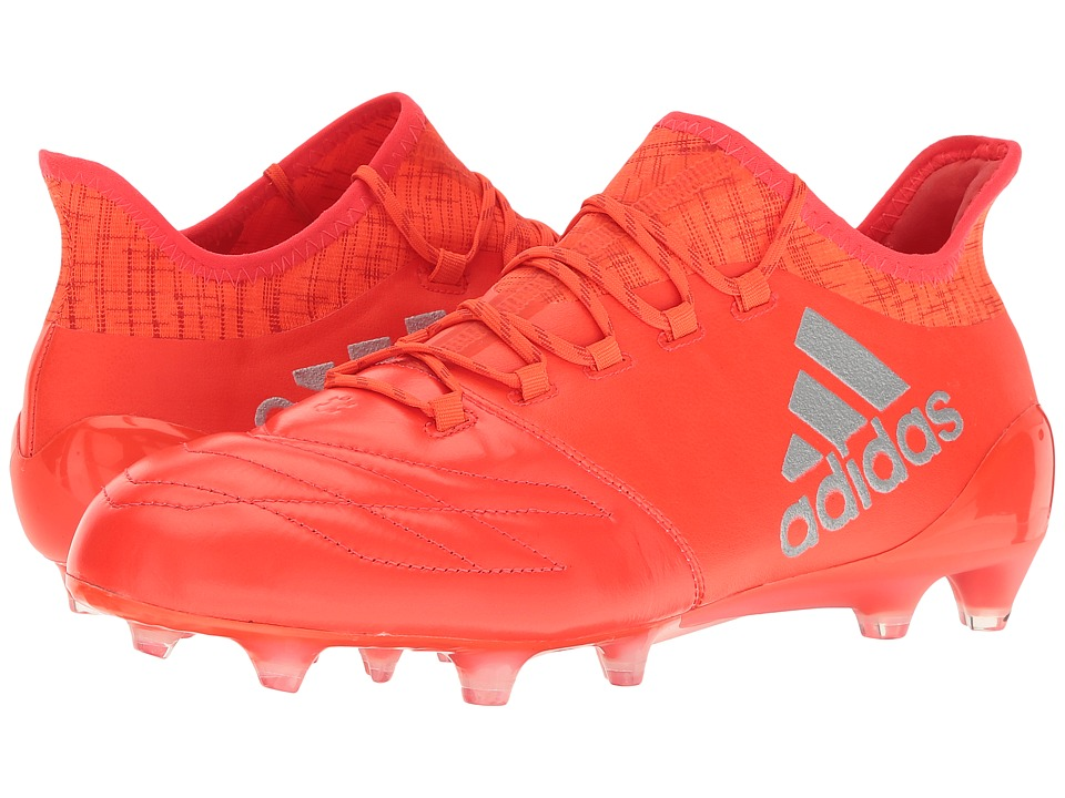 adidas - X 16.1 FG Leather (Solar Red/Silver Metallic/Hi-Res Red) Men's Shoes