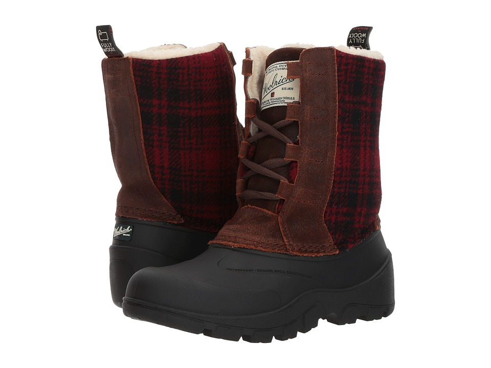 Woolrich Fully Wooly Tundracat (Coconut/Red Hunting Plaid) Women