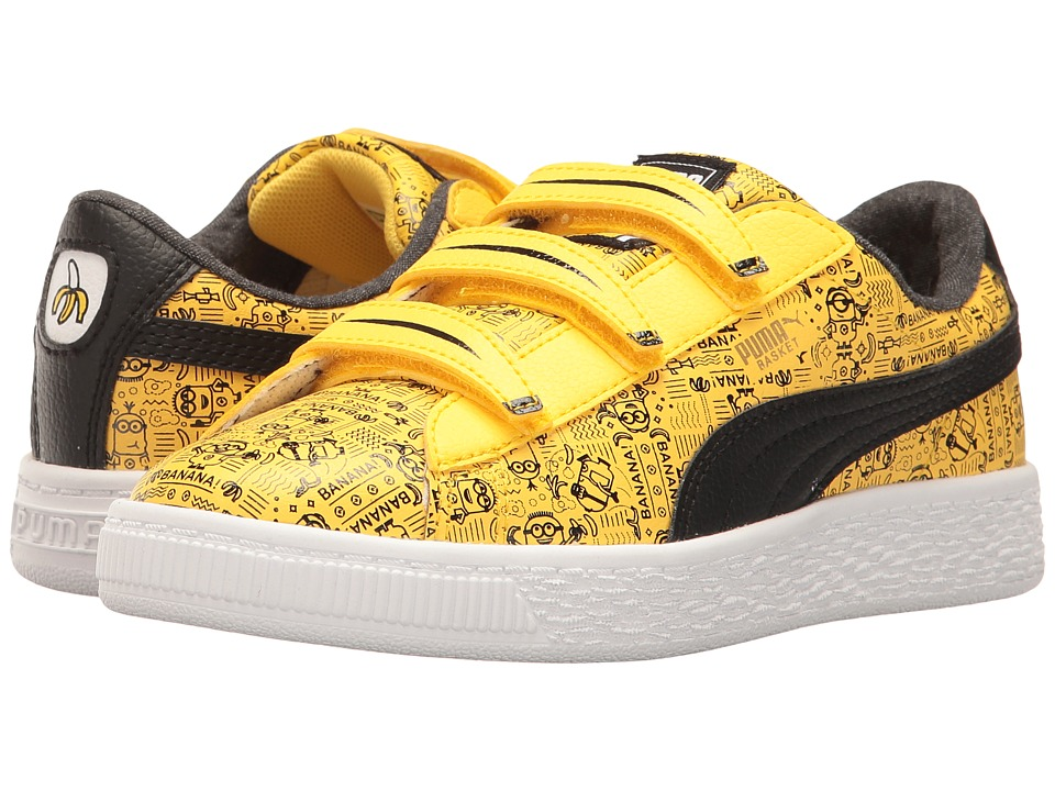 Puma Kids - Minions Basket V (Little Kid) (Minion Yellow/Puma Black) Kids Shoes