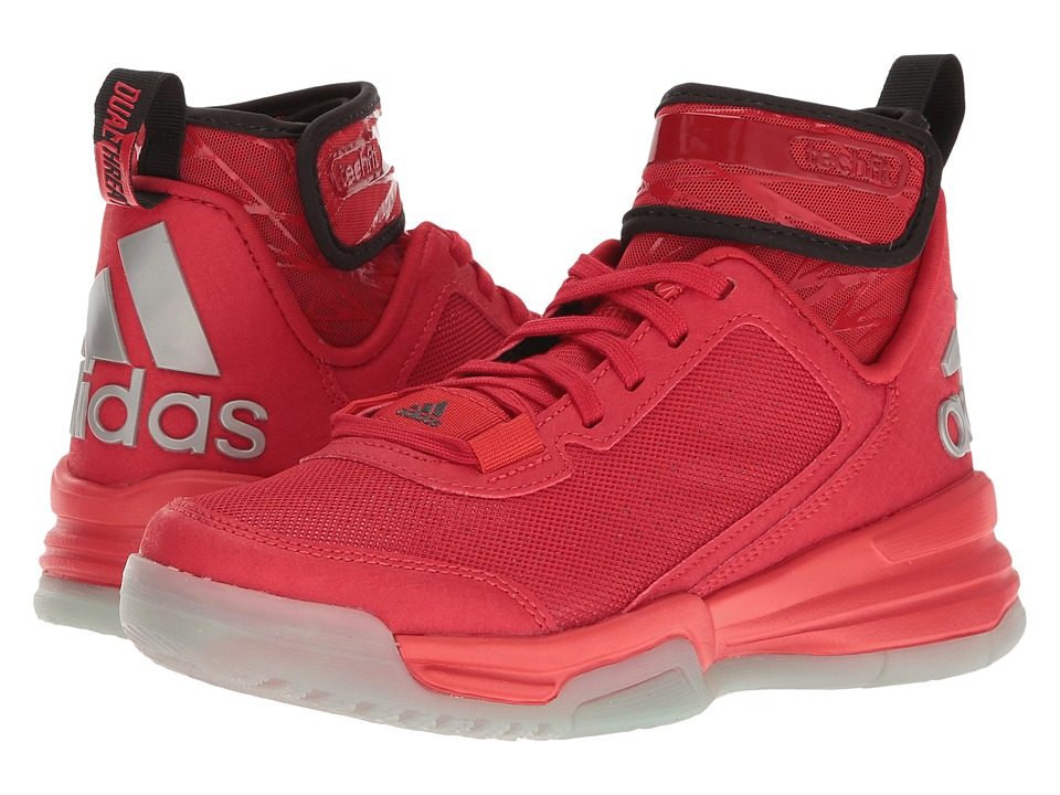 adidas Kids - Dual Threat BB (Big Kid) (Scarlet/Black/Power Red) Kids Shoes