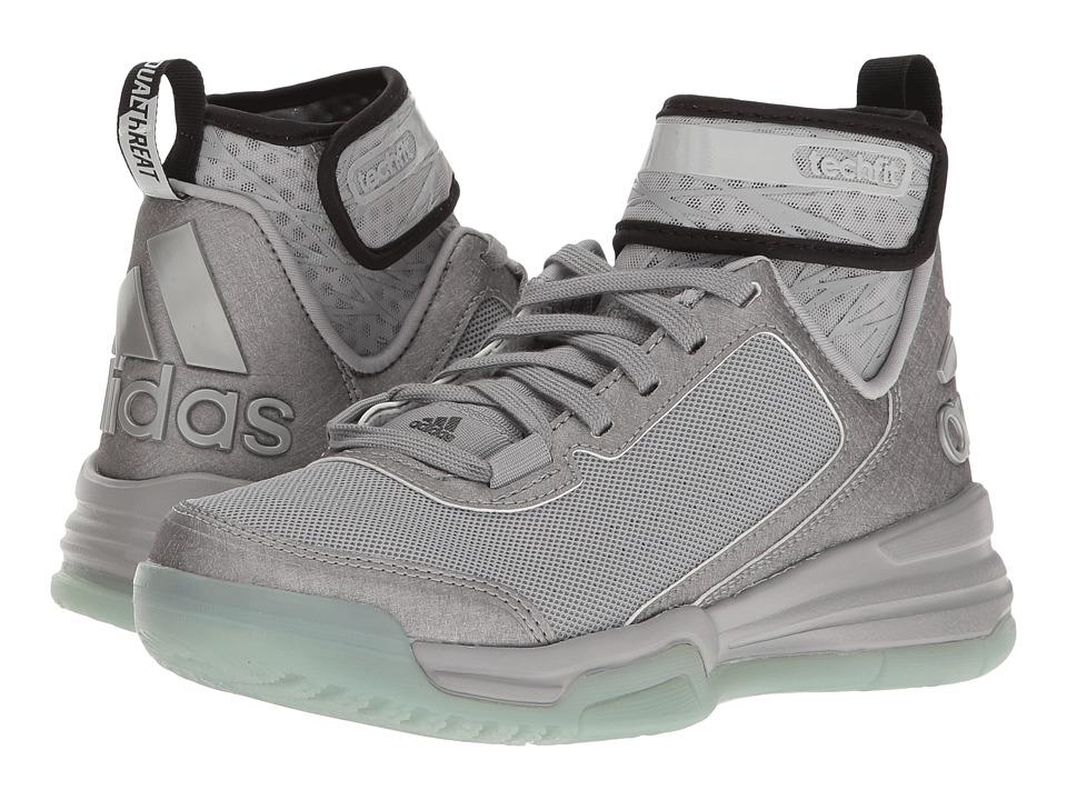 adidas Kids - Dual Threat BB (Big Kid) (Light Onix/Black/Onix) Kids Shoes