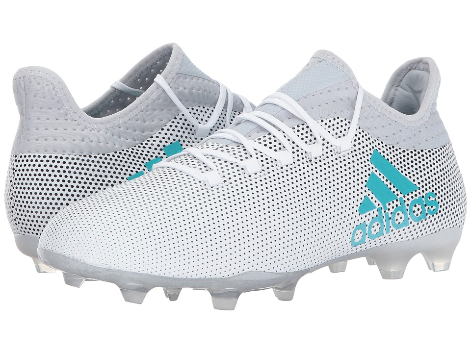 adidas - X 17.2 FG (Footwear White/Energy Blue/Clear Grey) Men's Soccer Shoes