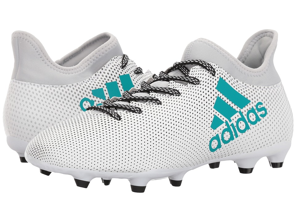 adidas - X 17.3 FG (Footwear White/Energy Blue/Clear Grey) Men's Soccer Shoes
