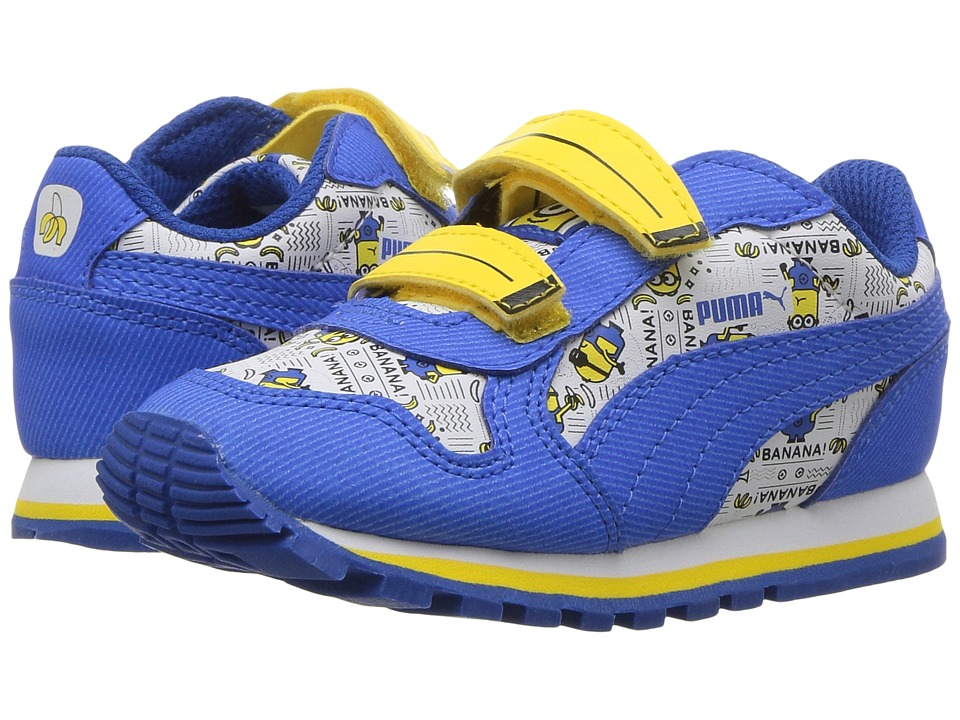 Puma Kids - Minions ST Runner V (Toddler) (Puma White/Lapis Blue/Minion Yellow) Kids Shoes