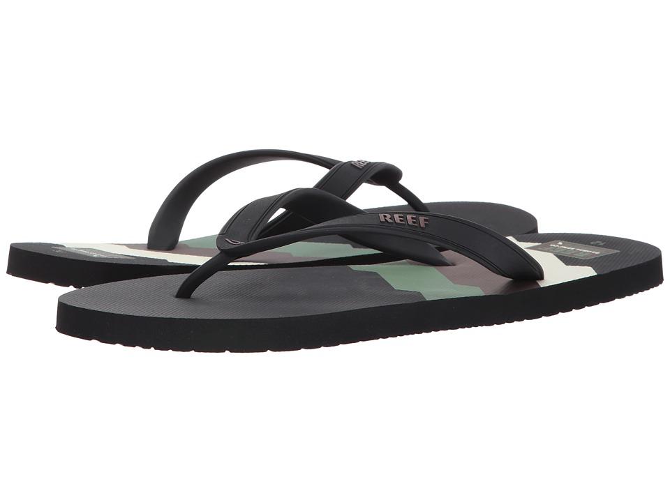 Reef - Switchfoot Prints (70s Green Lines) Men's Sandals