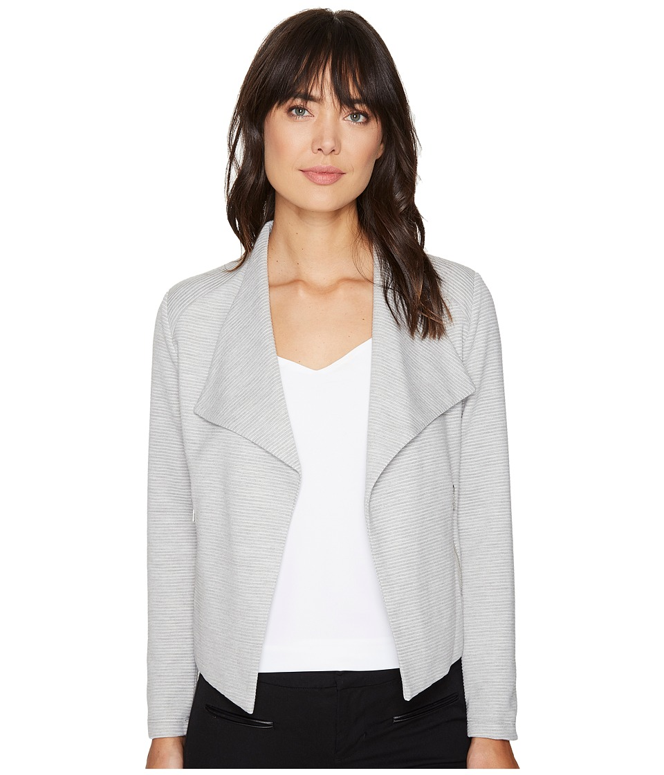Calvin Klein - Textured Flyaway Jacket (Heather Granite) Women's Coat