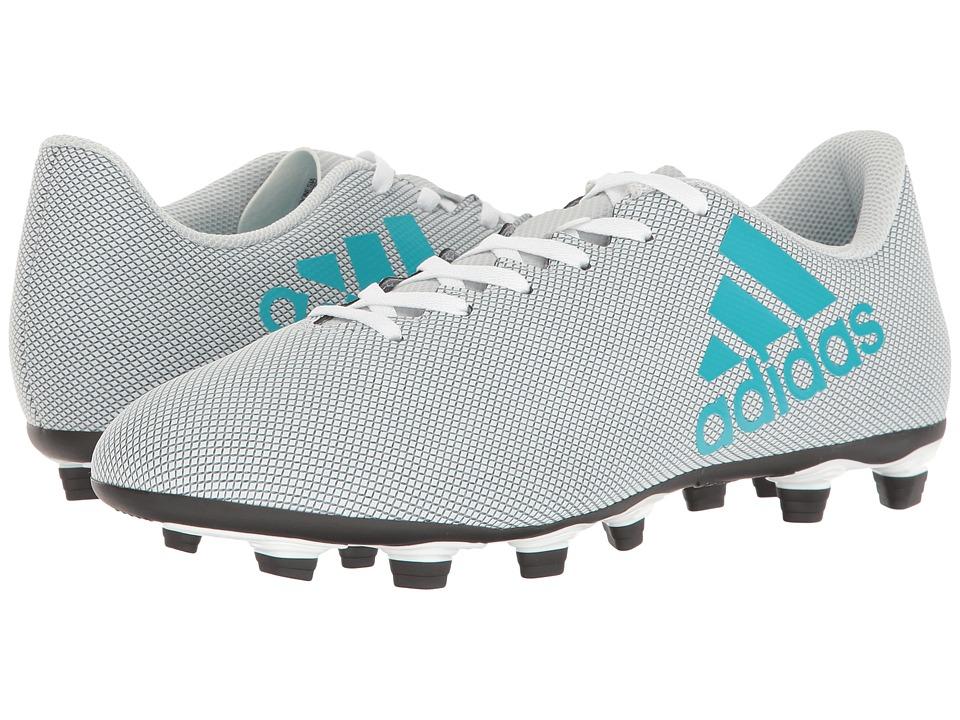 adidas - X 17.4 FxG (Footwear White/Energy Blue/Clear Grey) Men's Soccer Shoes