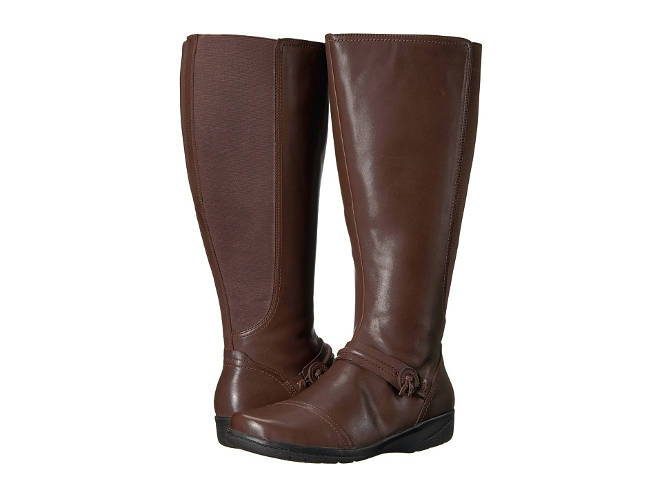 Clarks - Cheyn Whisk Wide Calf (Dark Brown) Women's Shoes