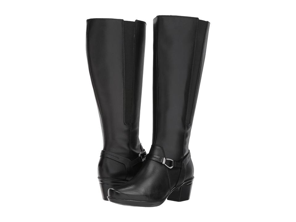 Clarks - Emslie Sinai Wide Calf (Black Leather) Women's Shoes