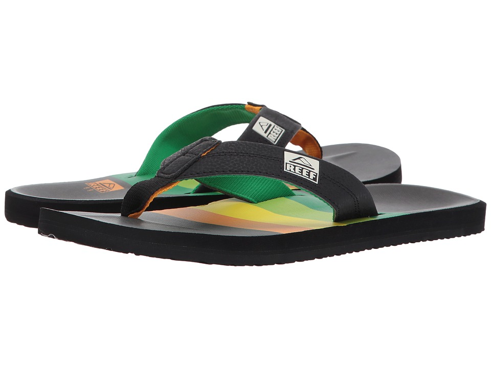 Reef - HT Prints (Dark Rasta) Men's Sandals