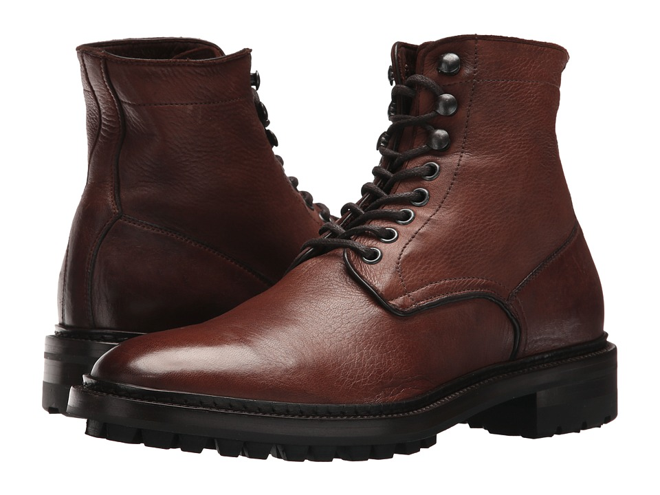 Frye Greyson Lace-Up (Redwood Deer Skin Leather) Men