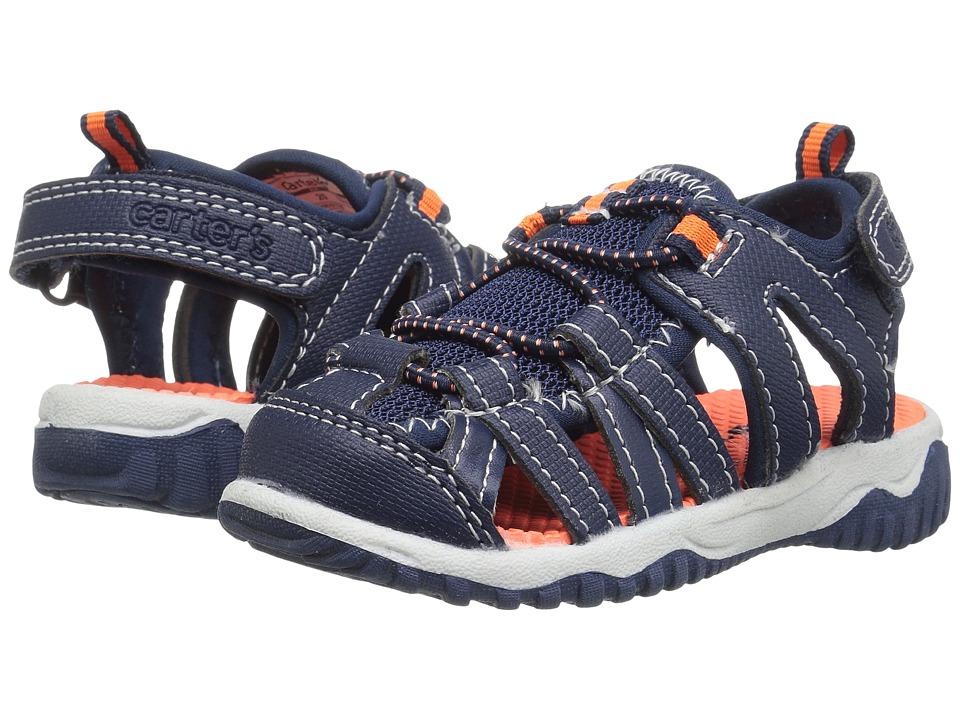 Carters - Christob (Toddler/Little Kid) (Navy/Orange) Boy's Shoes