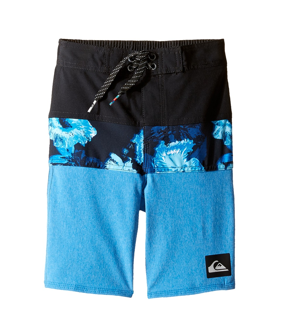 Quiksilver Kids Panel Blocked Vee 14 5 (Toddler/Little Kids) (Imperial Blue) Boy