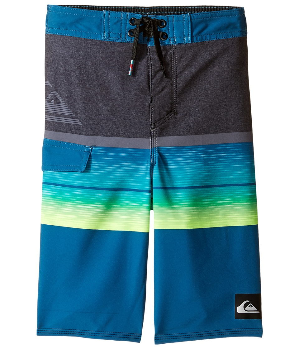 Quiksilver Kids - Slab Logo 14 5 (Toddler/Little Kids) (Moroccan Blue) Boy's Swimwear