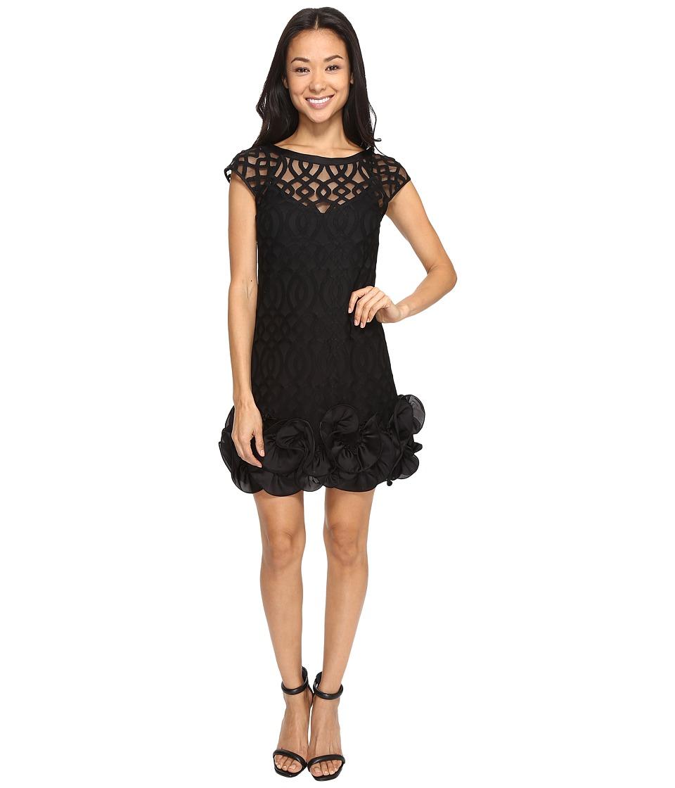 Jessica Simpson - Ruffle Bottom Dress (Black) Women's Dress