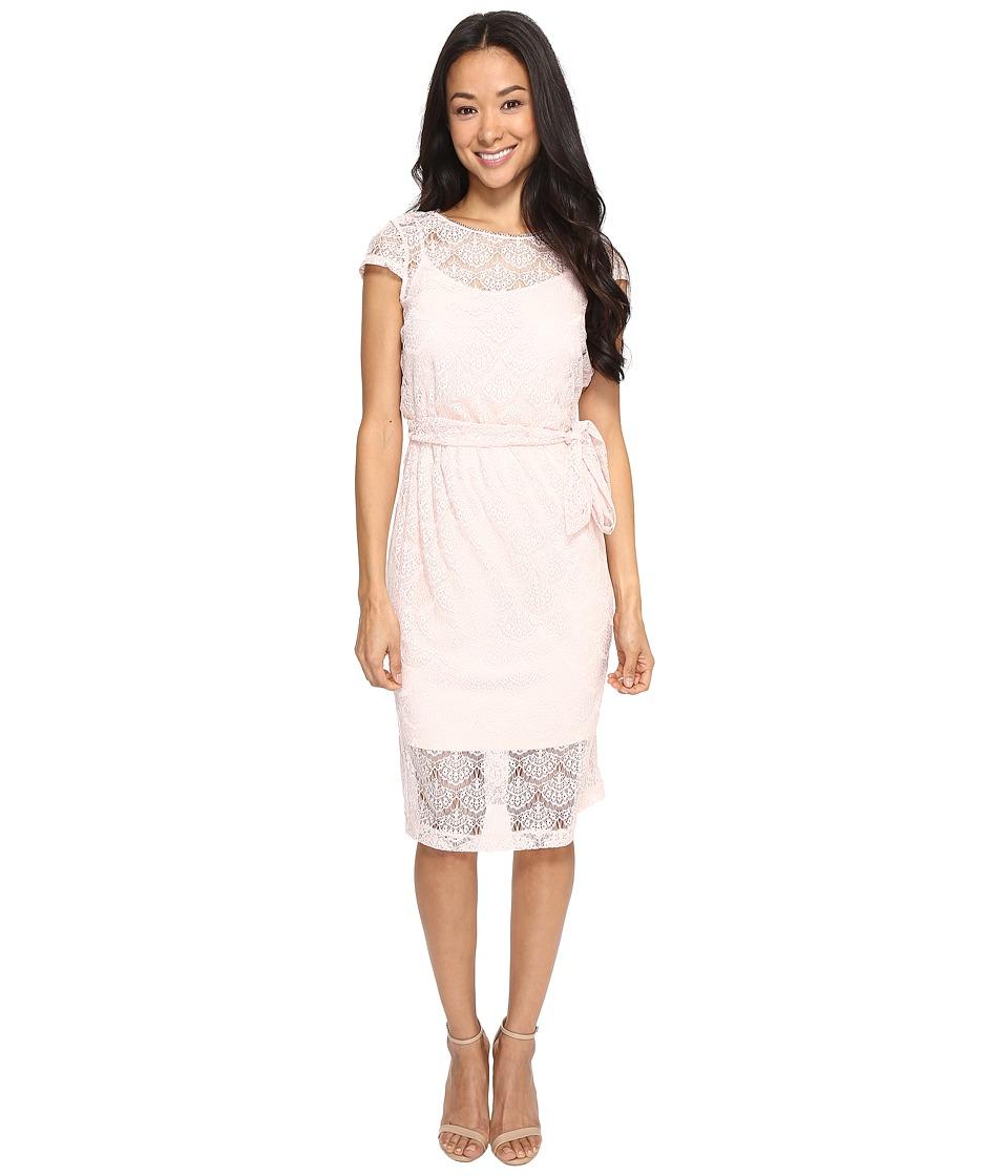 Jessica Simpson - Scalloped Lace Dress (Blush) Women's Dress