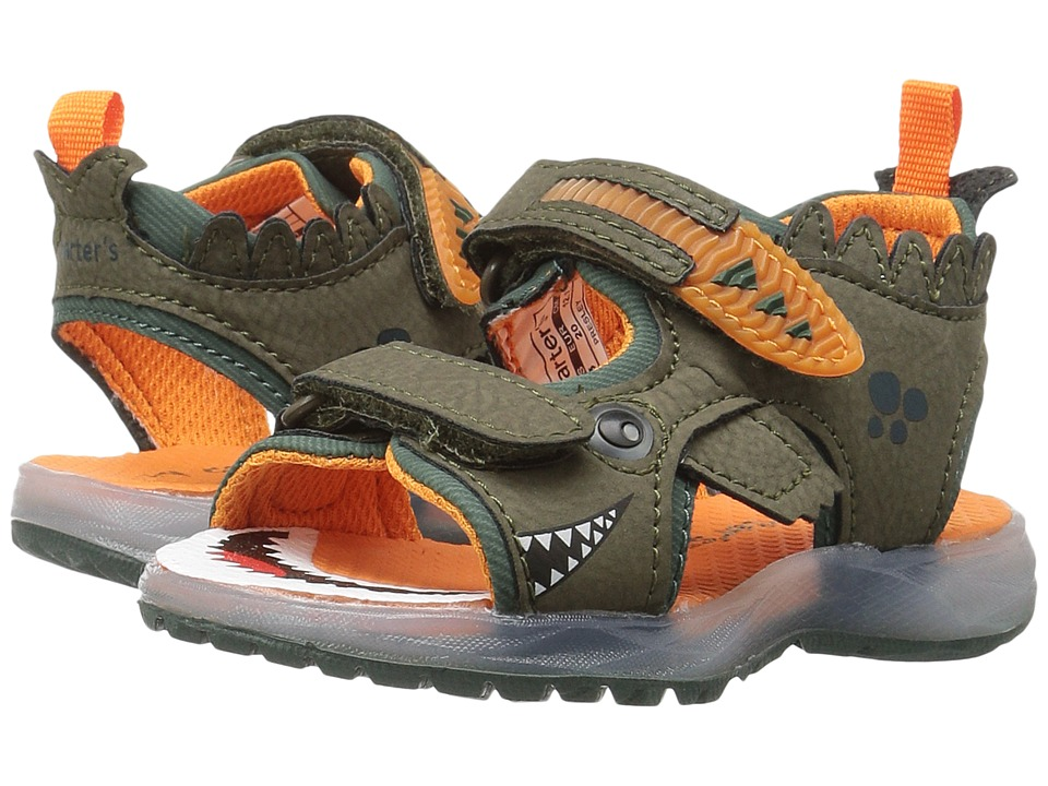 Carters - Presley (Toddler/Little Kid) (Olive/Orange) Boy's Shoes