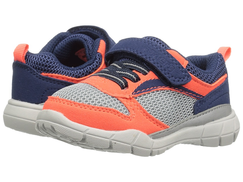 Carters - Web-B (Toddler/Little Kid) (Orange/Grey) Boy's Shoes