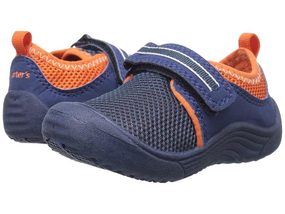 Carters - Chucky-B (Toddler/Little Kid) (Navy/Orange) Boy's Shoes
