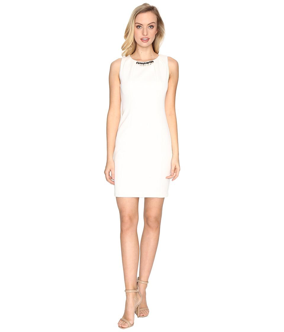 Jessica Simpson - Embellished Neck Dress (Ivory) Women's Dress
