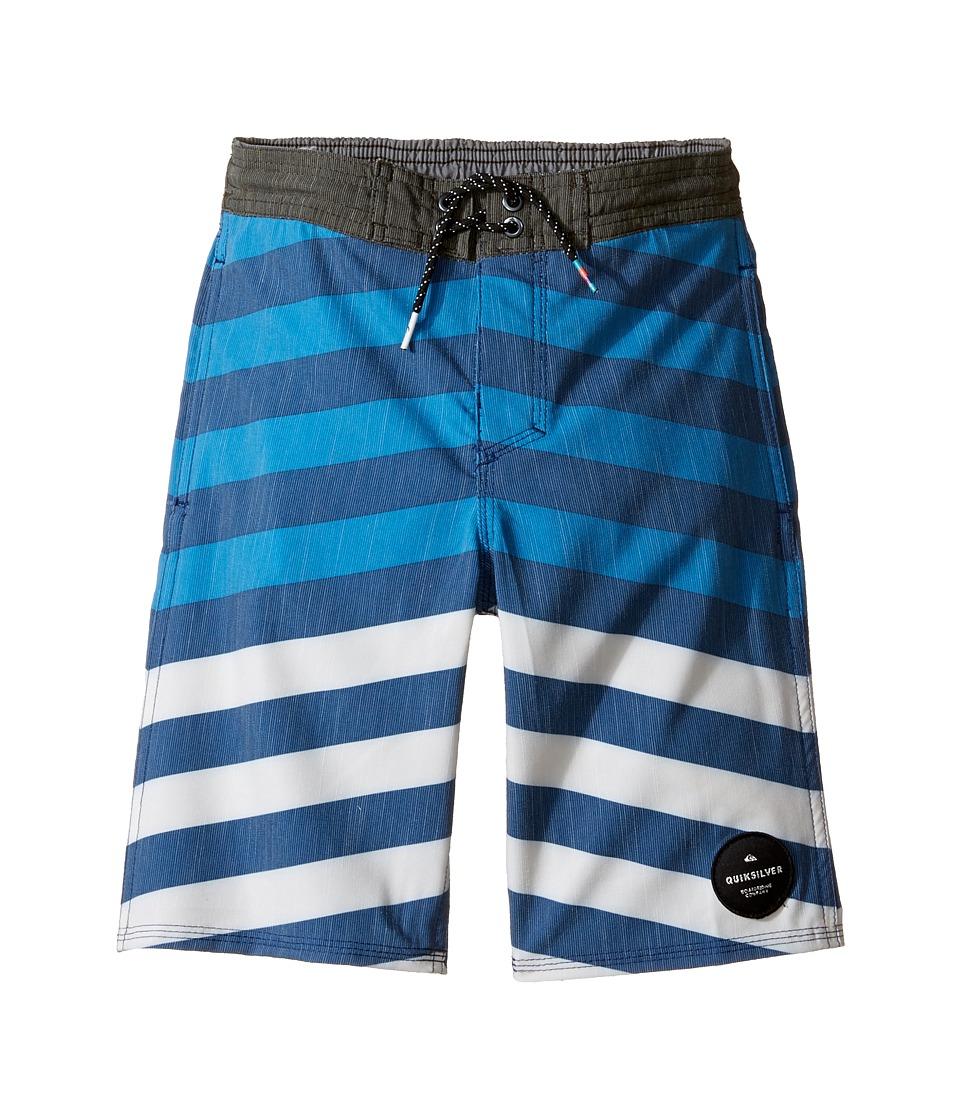 Quiksilver Kids Crypt Brigg Beach Shorts 14 5 (Toddler/Little Kids) (Estate Blue) Boy